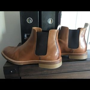 Chelsea Boots leather brown men 10